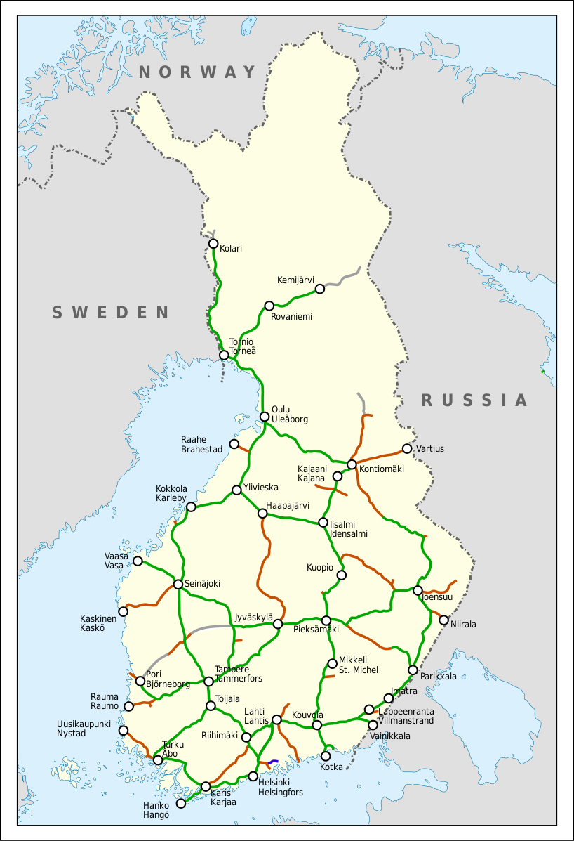 Finnish railroad network-en